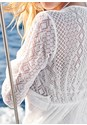Alternate View Lace Detail Cover-Up Romper