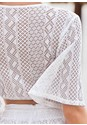 Alternate View Knotted Crochet Crop Top