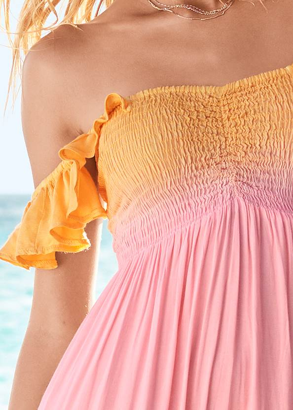 Alternate View High Low Maxi Cover-Up