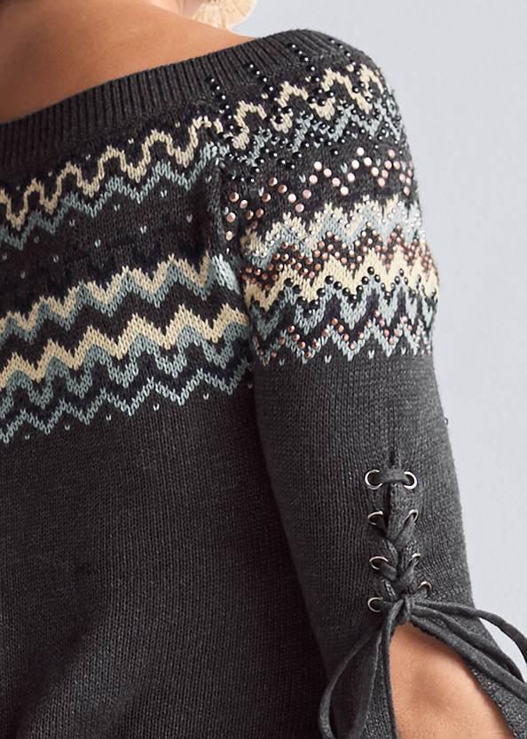 Alternate View Fair Isle Long Sweater