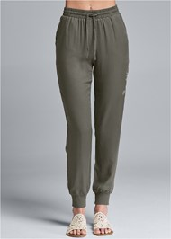 Front View Embroidered Pants