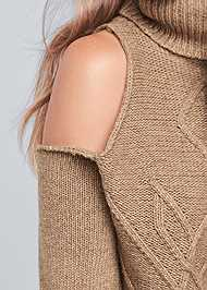Alternate View Cut Out Shoulder Sweater