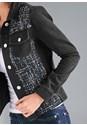 Detail front view Denim And Tweed Jacket