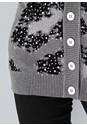 Detail front view Leopard Print Cardigan