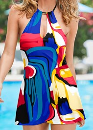 Alternate View High Neck Swim Dress