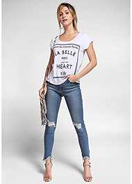 Front View Love Print Top