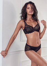Cropped front view Unlined Lace Bra