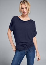 Front View Basic Flounce Top