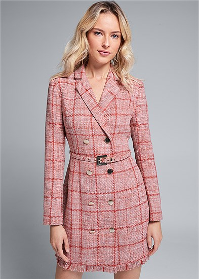 tweed coat dress