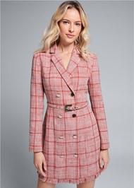 Front View Tweed Coat Dress