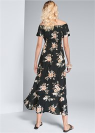 Back View Floral Maxi Dress