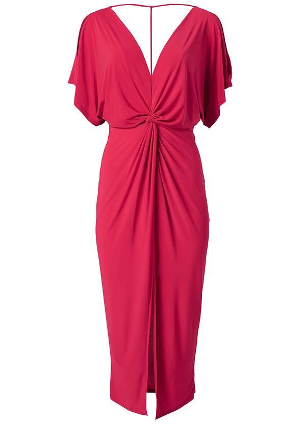 Alternate View Knot Front Midi Dress