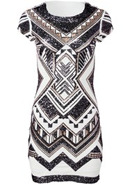 Alternate View Embellished Bodycon Dress