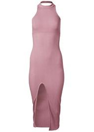 Alternate View Ribbed Front Slit Dress