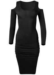 Alternate View Cold Shoulder Casual Dress