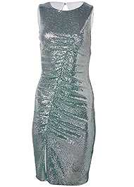 Ghost with background  view Ruched Sparkle Dress