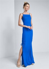 Full front view Square Neck Maxi Dress