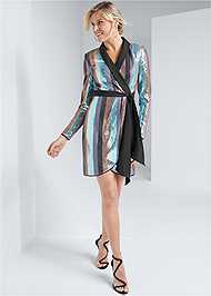 Full front view Sequin Wrap Dress