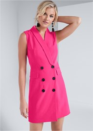 Cropped front view Sleeveless Coat Dress