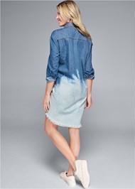 Alternate View Denim Ombre Shirt Dress