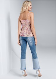 Full back view Multi Sequin Top