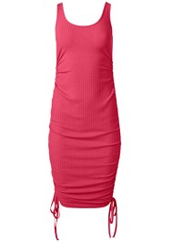 Alternate View Ruched Ribbed Tank Dress