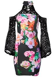 Alternate View Floral Cold Shoulder Dress
