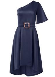 Alternate View One Shoulder Belted Dress