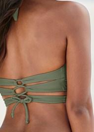 Detail back view Wrap Bikini Top