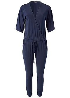plus size kimono sleeve jumpsuit