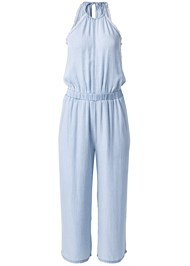 Ghost with background  view Chambray Culotte Jumpsuit