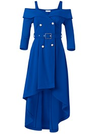 Alternate View Cold Shoulder Coat Dress