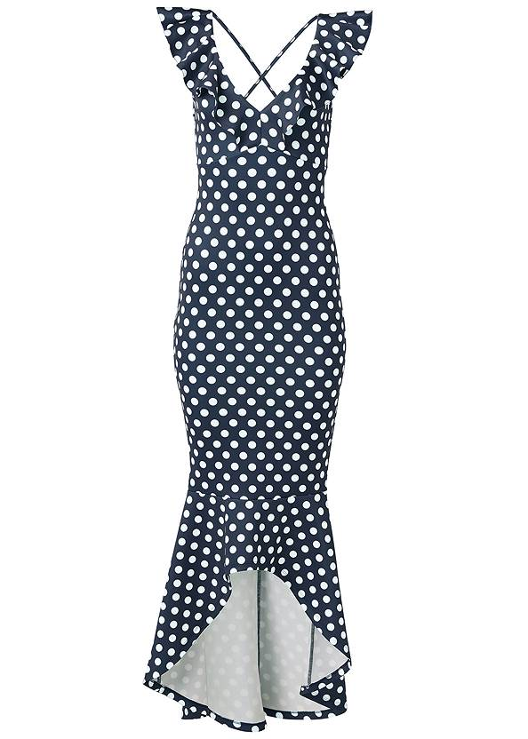 Ghost with background  view High Low Polka Dot Dress