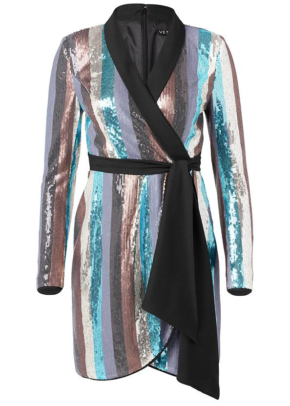 Ghost with background  view Sequin Wrap Dress