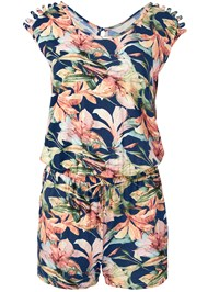 Alternate View Casual Floral Print Romper