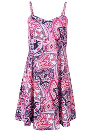 Alternate View Abstract Printed Mini Dress