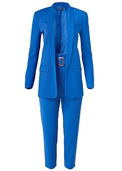 plus size electric blue suit set