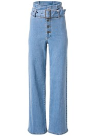Ghost with background  view Belted Straight Leg Jeans