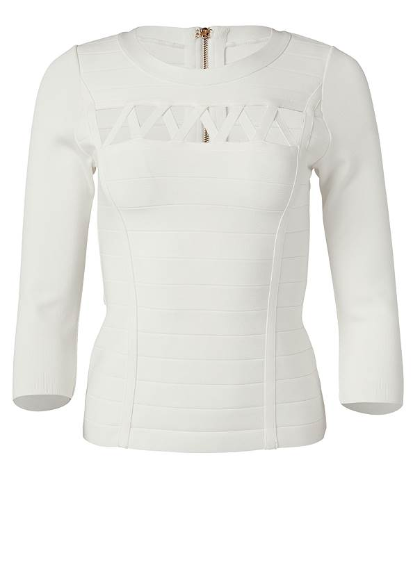 Alternate View Cut Out Bandage Sweater
