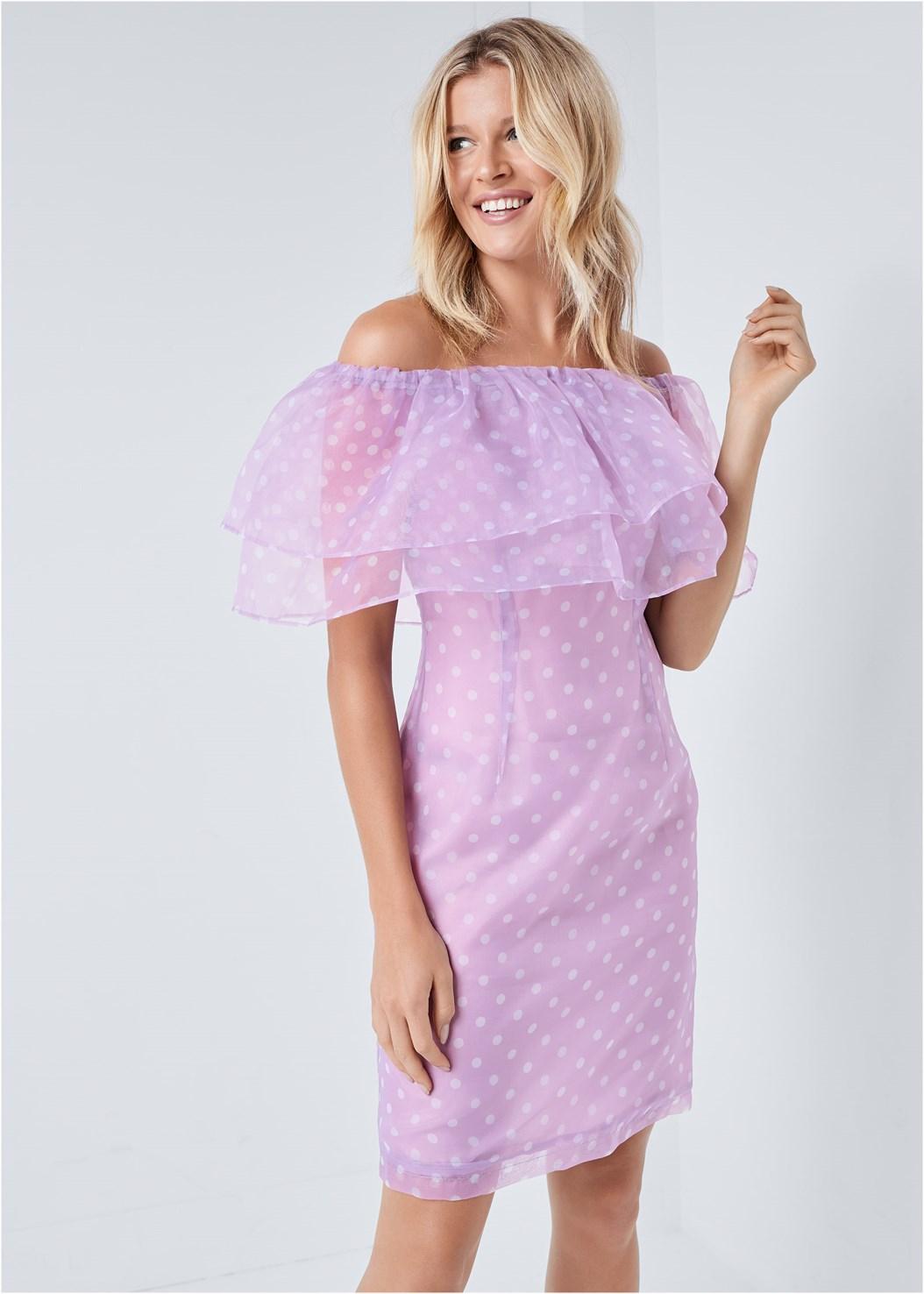Organza Polka Dot Dress