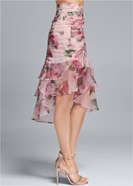 Waist down side view Floral Organza Skirt