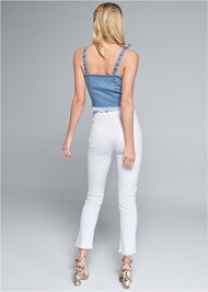 Full back view Cropped Denim Top