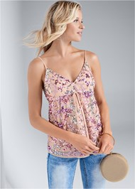 Cropped front view Multi Sequin Top