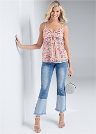 Full front view Multi Sequin Top