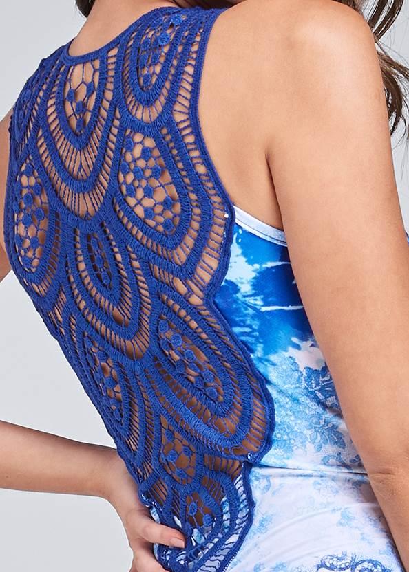 Alternate View Crochet Printed Maxi Dress