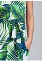 Alternate View Palm Print Self Tie Maxi