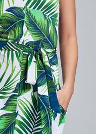 Alternate View Palm Print Self Tie Maxi