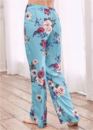 Back View Floral Sleep Pants
