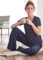 sleep henley and pant set