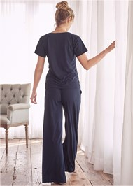 Back View Sleep Henley And Pant Set